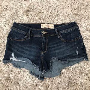 Hollister Low Rise Denim Jean Short Shorts